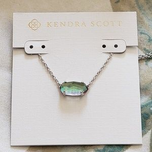 New Kendra Scott Ever Silver & Dichroic Glass